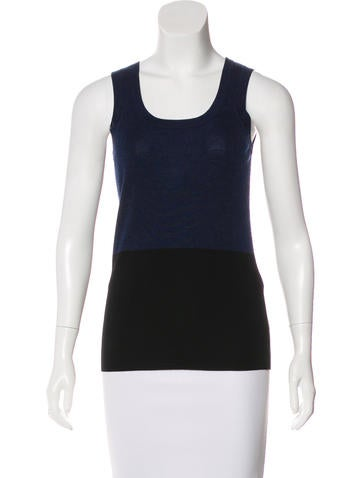 Akris Punto Wool Colorblock Top w/ Tags None