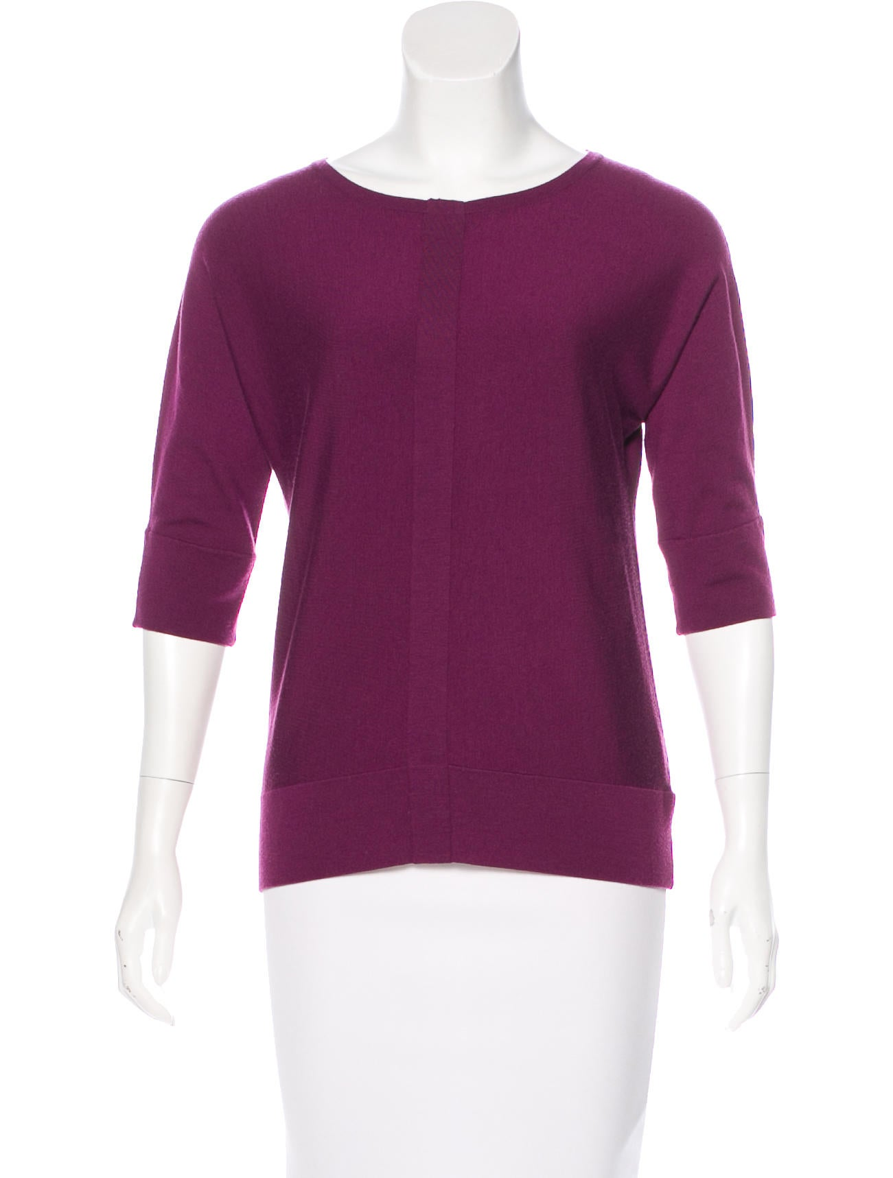 Akris punto wool knit top clothing wak33182 the realreal for Best wool shirt jackets