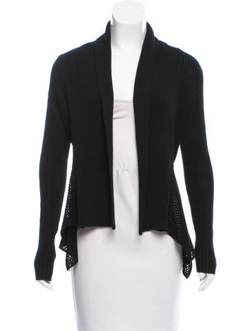 Akris Punto Mesh-Trimmed Rib Knit Cardigan None