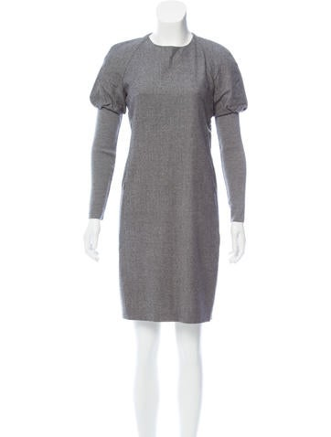 Akris Punto Wool Mini Dress None