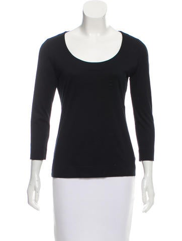 Akris Punto Scoop-Neck Top None