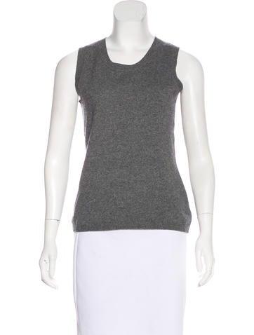 Akris Punto Wool & Cashmere-Blend Sleeveless Top None