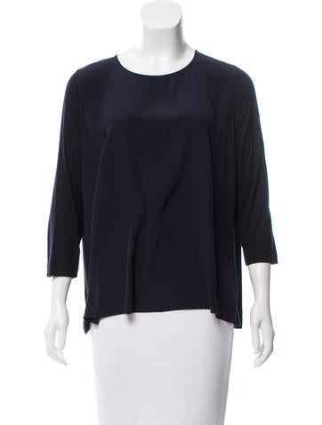 Akris Punto Silk Scoop Neck Top None