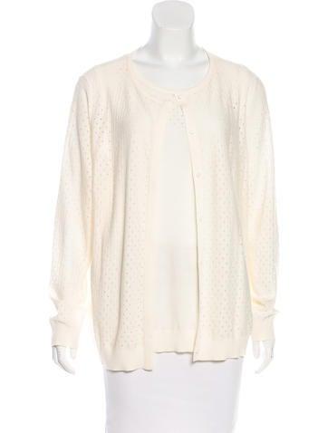 Akris Punto Wool Open Knit Cardigan Set None