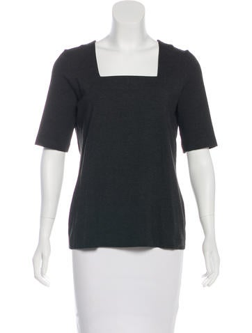 Akris Punto Short Sleeve Knit Top None