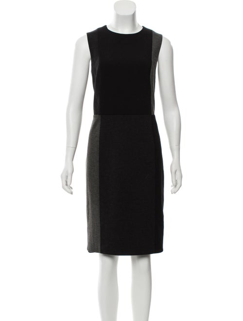 Akris Punto Sleeveless Color Block Dress Grey