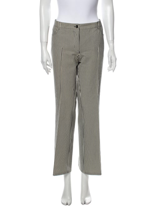 Akris Punto Striped Wide Leg Pants Black