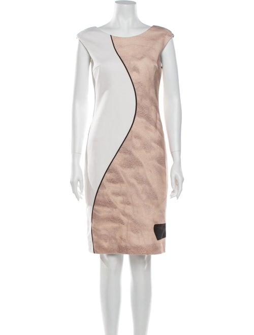 Akris Punto Colorblock Pattern Knee-Length Dress W