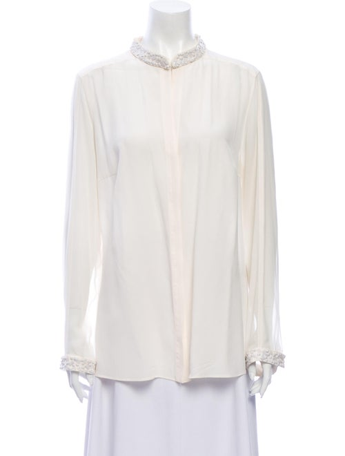 Akris Punto Silk Mock Neck Blouse