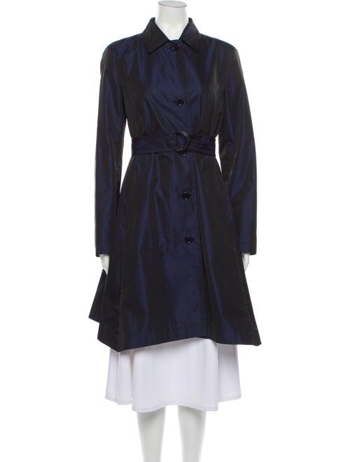 Akris Punto Trench Coat Blue