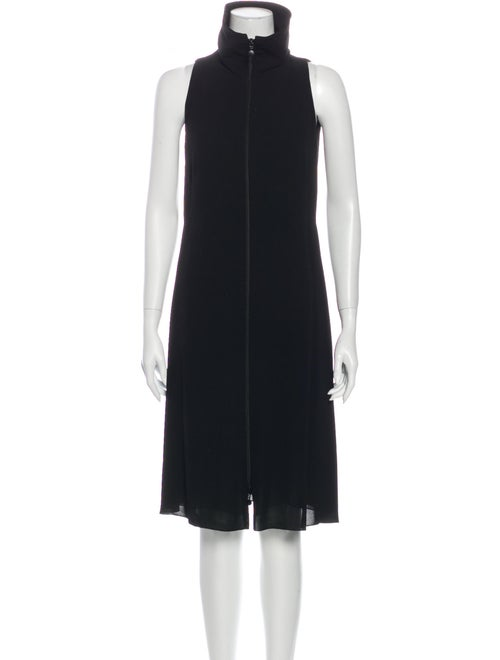 Akris Punto Turtleneck Knee-Length Dress Black