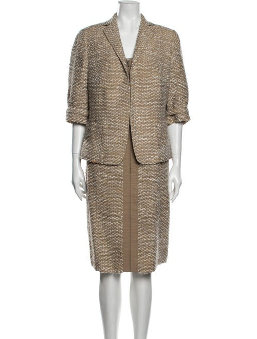 Akris Punto Tweed Pattern Dress Set