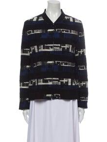 Akris Punto Striped Evening Jacket