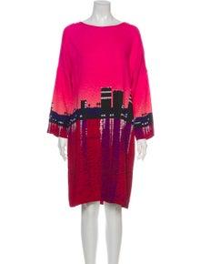Akris Punto Printed Knee-Length Dress