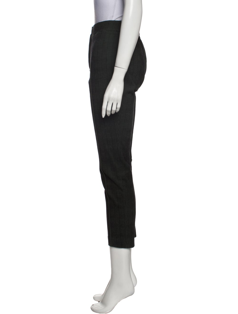 Akris Punto Plaid Print Skinny Leg Pants Green - image 2