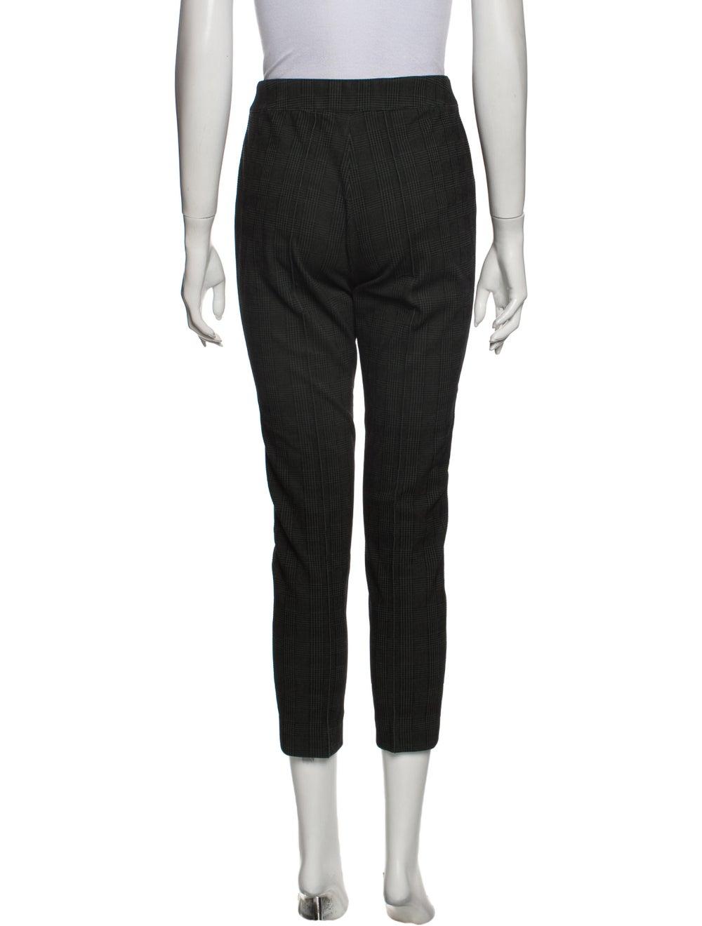 Akris Punto Plaid Print Skinny Leg Pants Green - image 3
