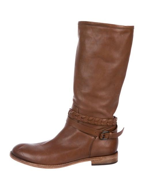 Alberto Fermani Leather Knee-High Boots Tan