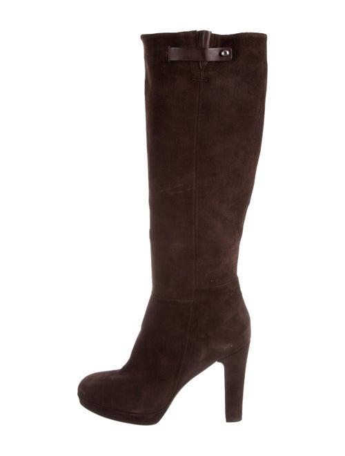Alberto Fermani Suede Knee-High Boots Brown