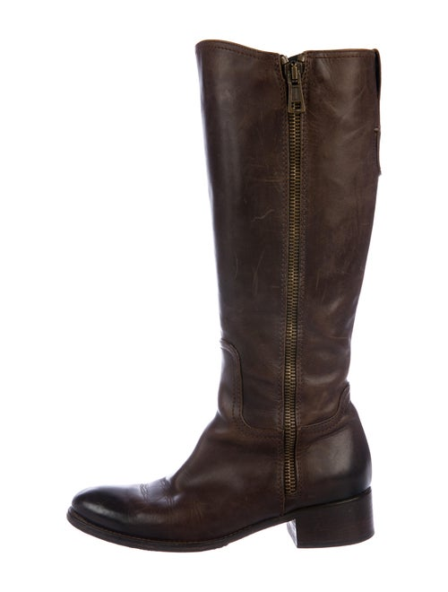 Alberto Fermani Leather Riding Boots Brown