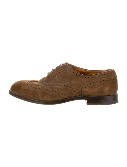 Alden Brogue Suede Brogues Brown