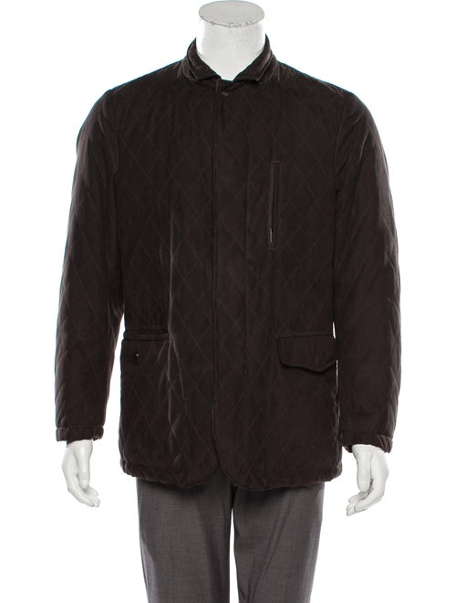 Allegri Quilted Collared Coat brown