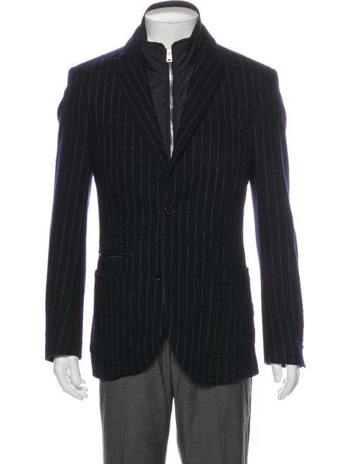 Allegri Striped Sport Coat Blue