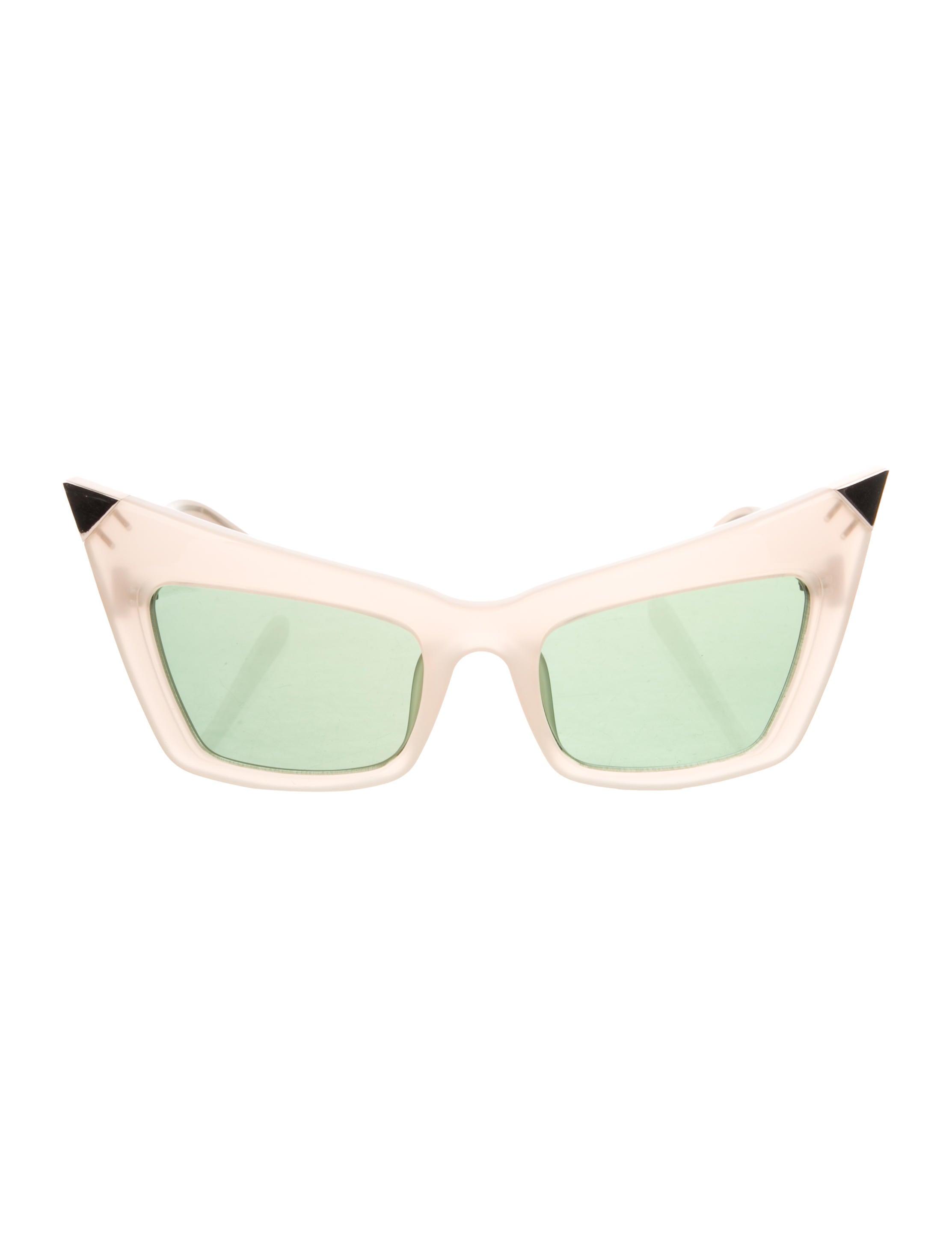 a57396f22bc5 Alexander Wang x Linda Farrow Pointed Cat-Eye Sunglasses w  Tags ...