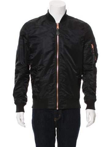 Alpha Industries Rib Knit-Trimmed Bomber Jacket None