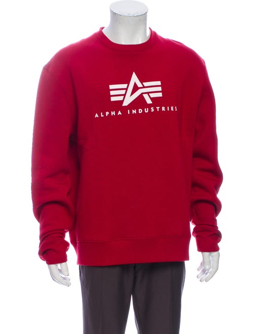 Alpha Industries Graphic Print Crew Neck Sweatshir