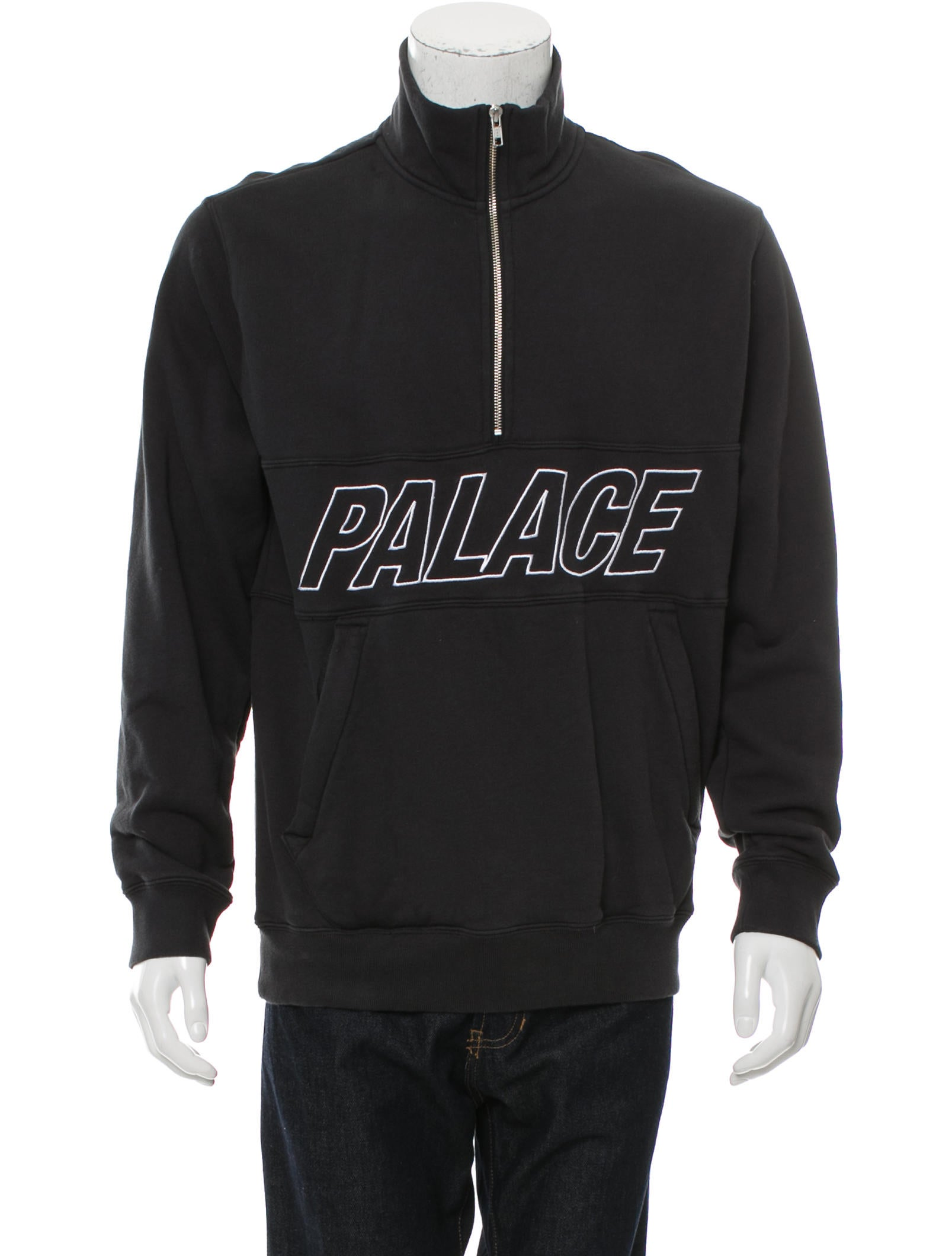 Palace Skateboards Graphic Half-Zip Sweatshirt - Clothing - WALSK20013 | The RealReal