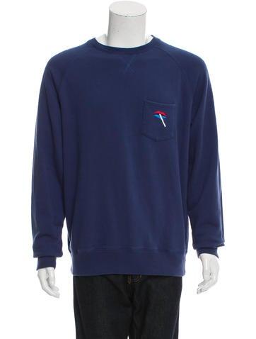 Palace Skateboards  Smoking Cigarette Pullover Sweatshirt None