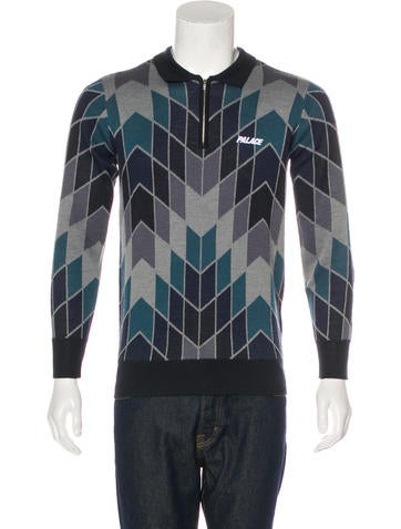 Palace Skateboards Wool-Blend Zip Sweater w/ Tags None