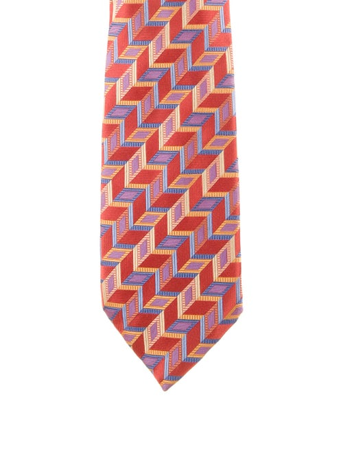 Altea Patterned Silk Tie red