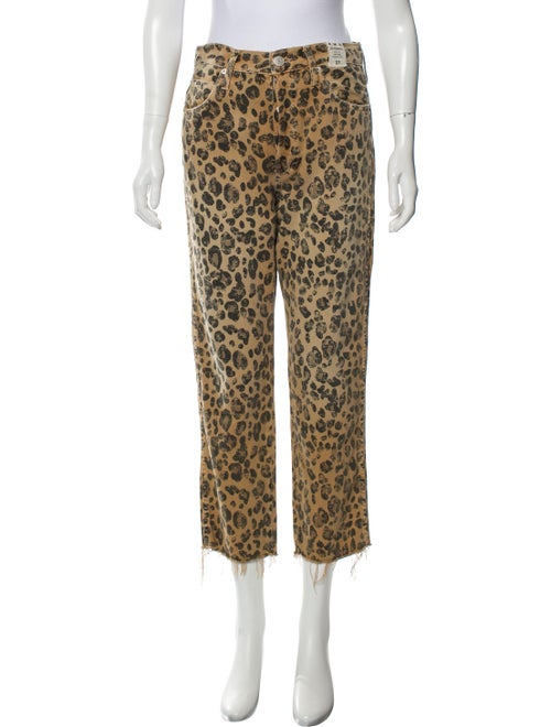 AMO Animal Print Straight Leg Pants