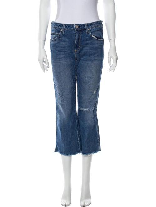 AMO Mid-Rise Wide Leg Jeans Blue