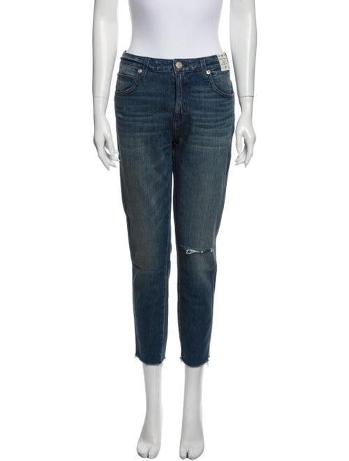 AMO Mid-Rise Straight Leg Jeans Blue