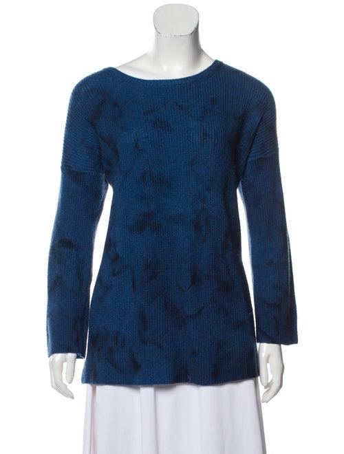 Amina Rubinacci Tie-Dye Print Crew Neck Sweater Bl