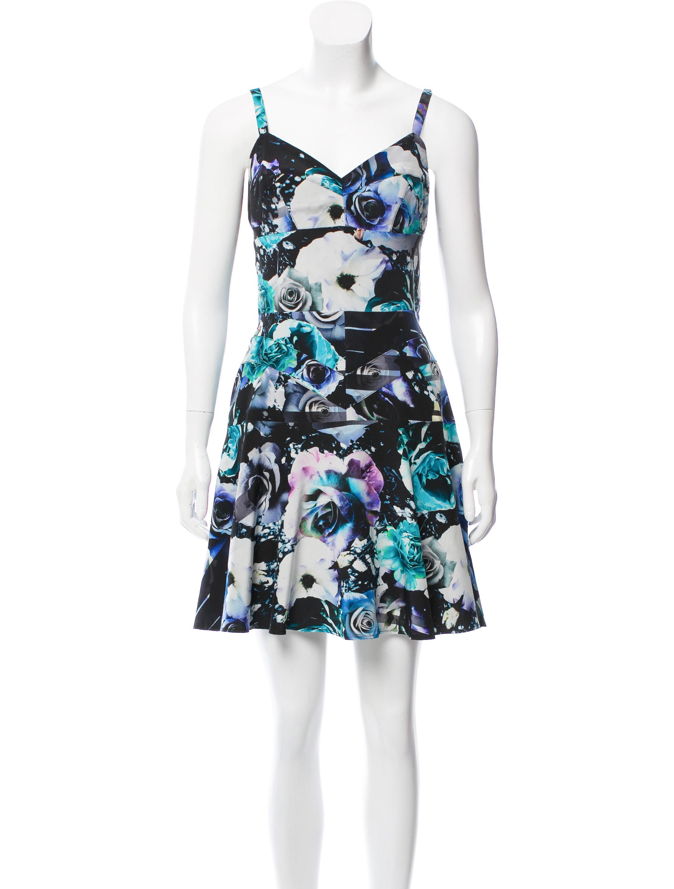 Amanda Uprichard Printed Silk Dress - Clothing - WAMUP20261 | The ...