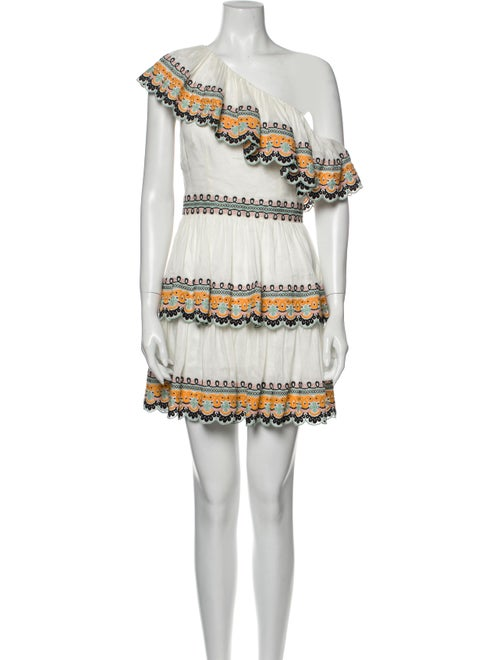 Amur Linen Mini Dress White