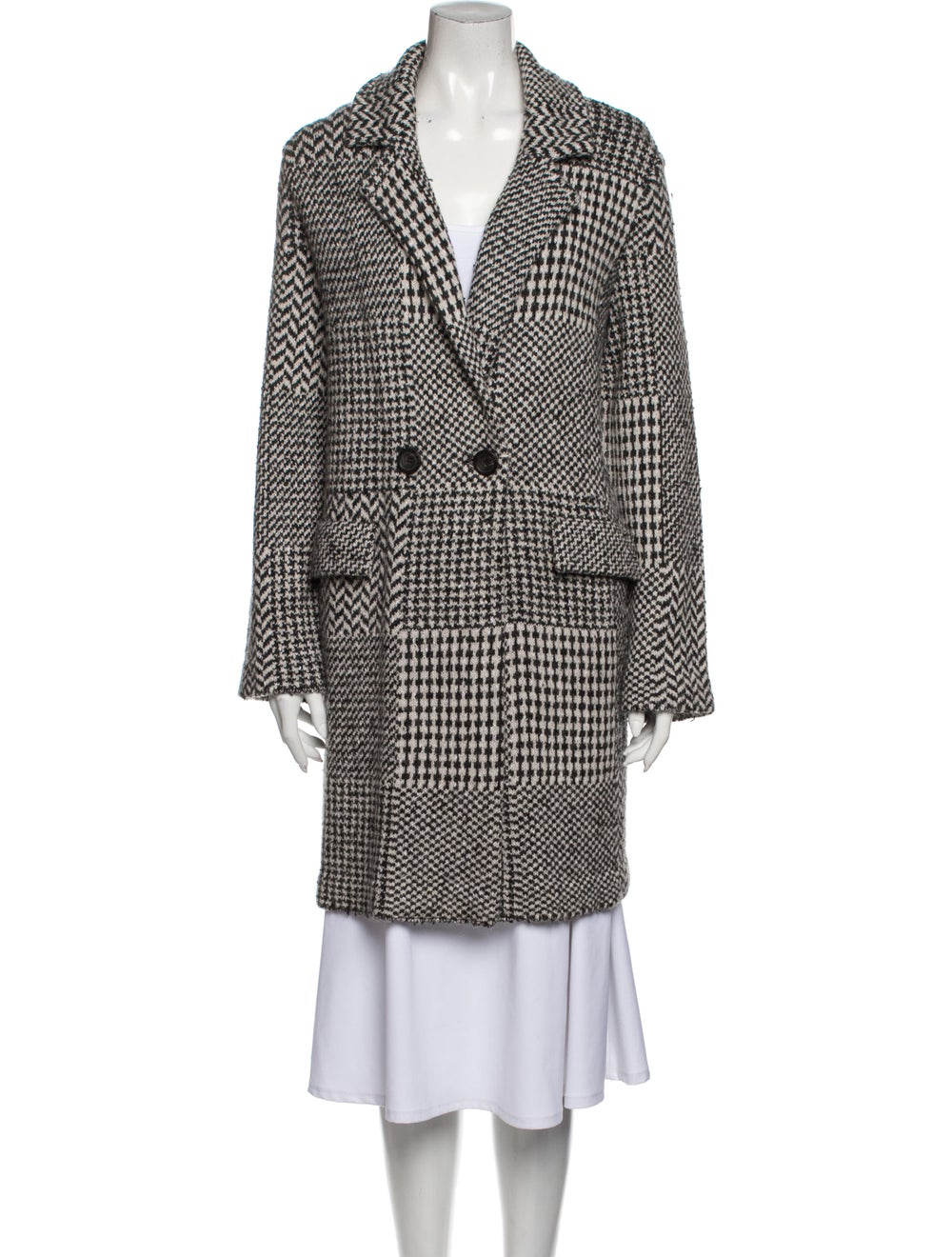 Anne Claire Tweed Pattern Peacoat Grey - image 1