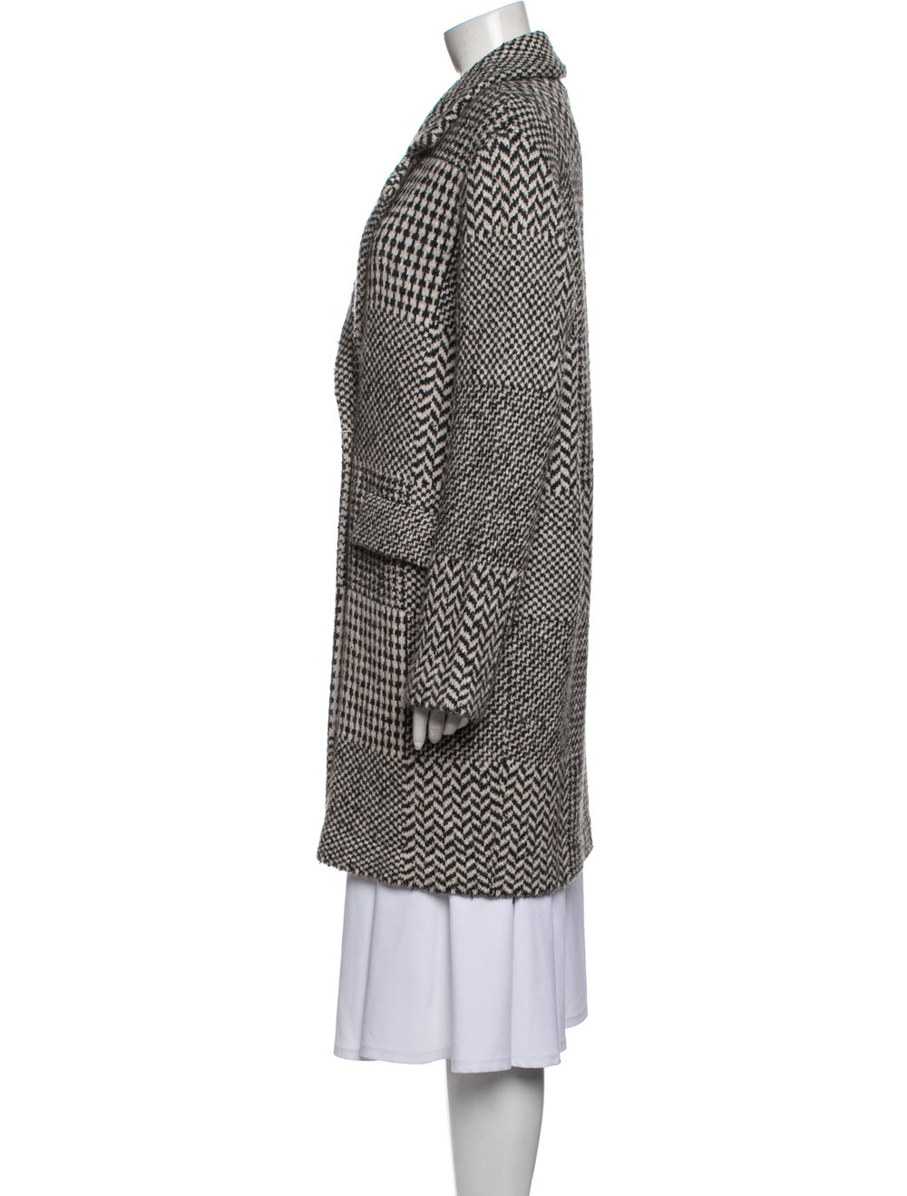 Anne Claire Tweed Pattern Peacoat Grey - image 2