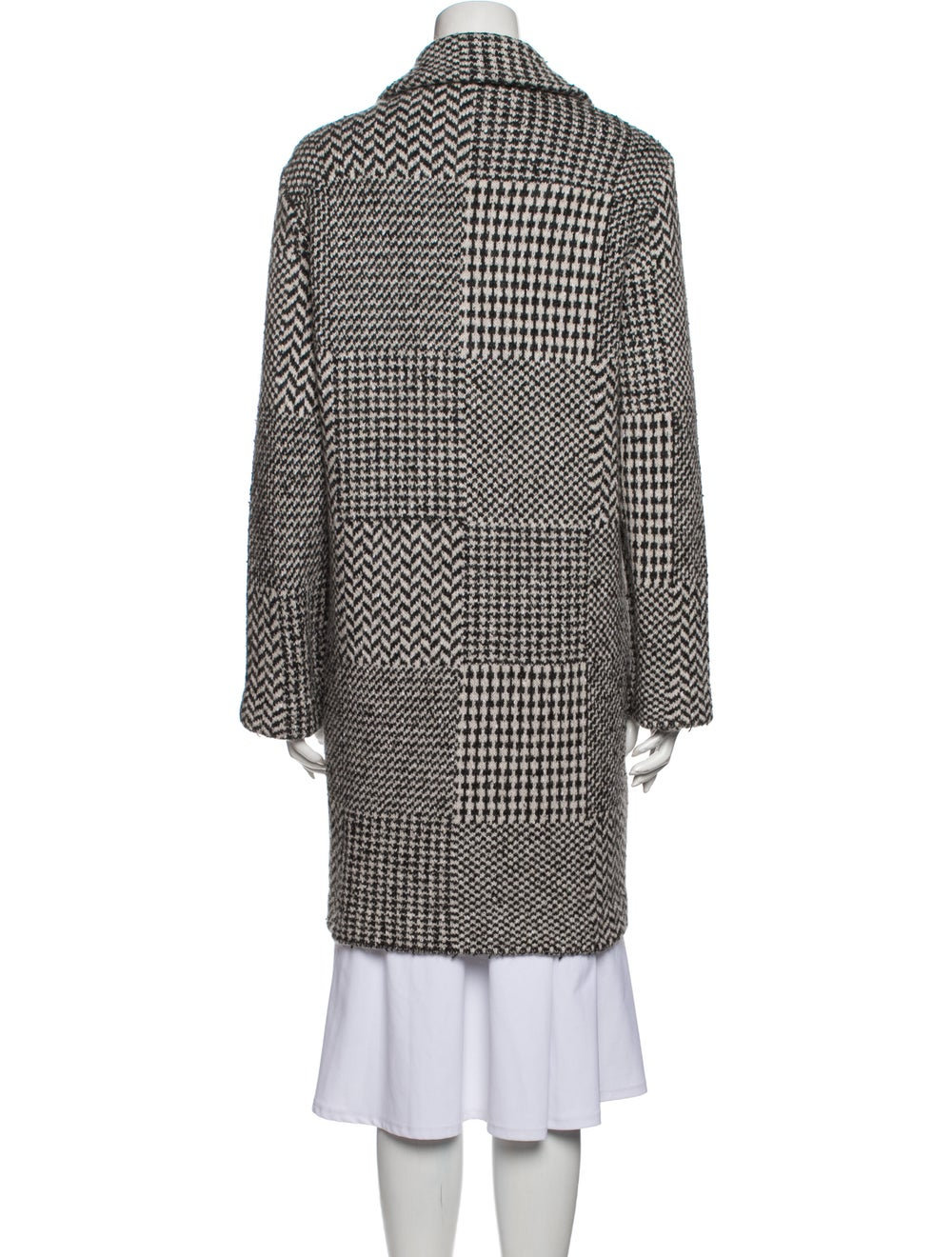 Anne Claire Tweed Pattern Peacoat Grey - image 3