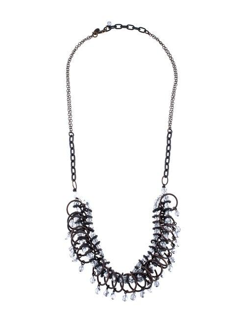 Annie Costello Brown Crystal Loop Collar Necklace