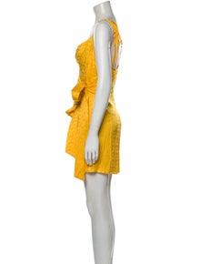 Andamane Scoop Neck Mini Dress