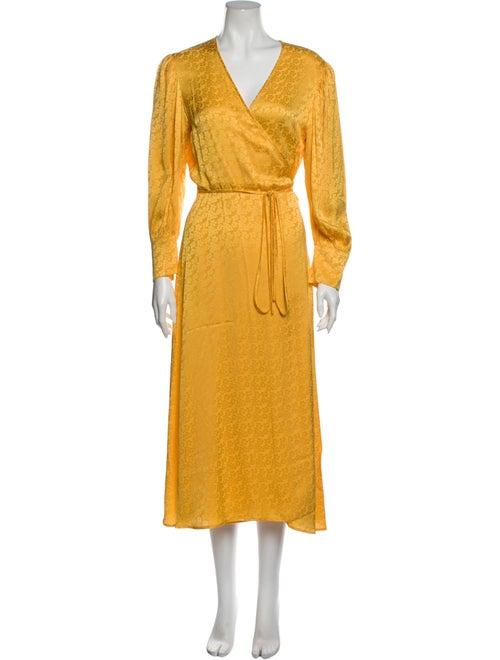 Andamane V-Neck Long Dress Gold
