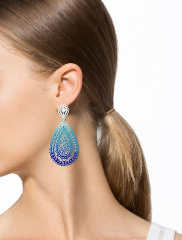 Pear Blue Earrings