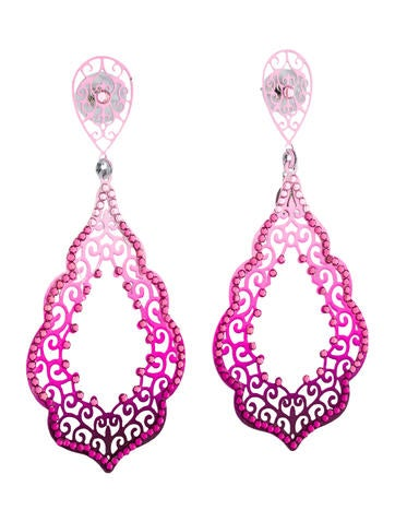 Flame Pink Earrings w/Tags