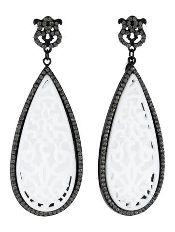 Lacy Ivory'esque Drop Earrings