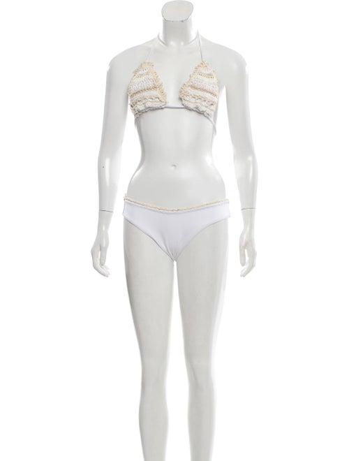 Anjuna Printed Bikini w/ Tags White