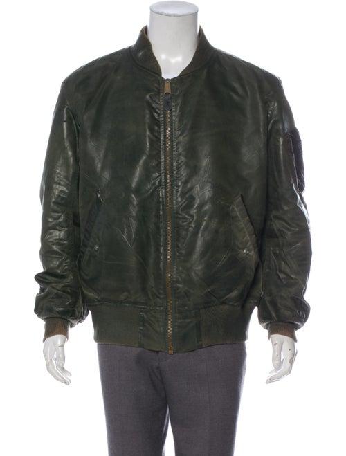 Antonio Barragan Wax Bomber Jacket green - image 1